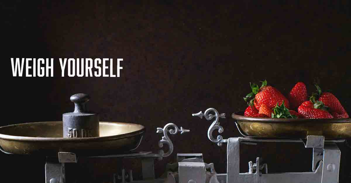 weigh yourself a devotional by Vince Miller