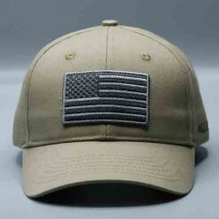 American Flag Hat Army Green by Vince Miller