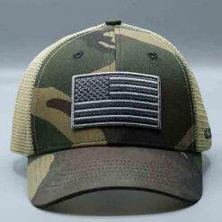 American Flag Hat Camo Tucker Mesh by Vince Miller